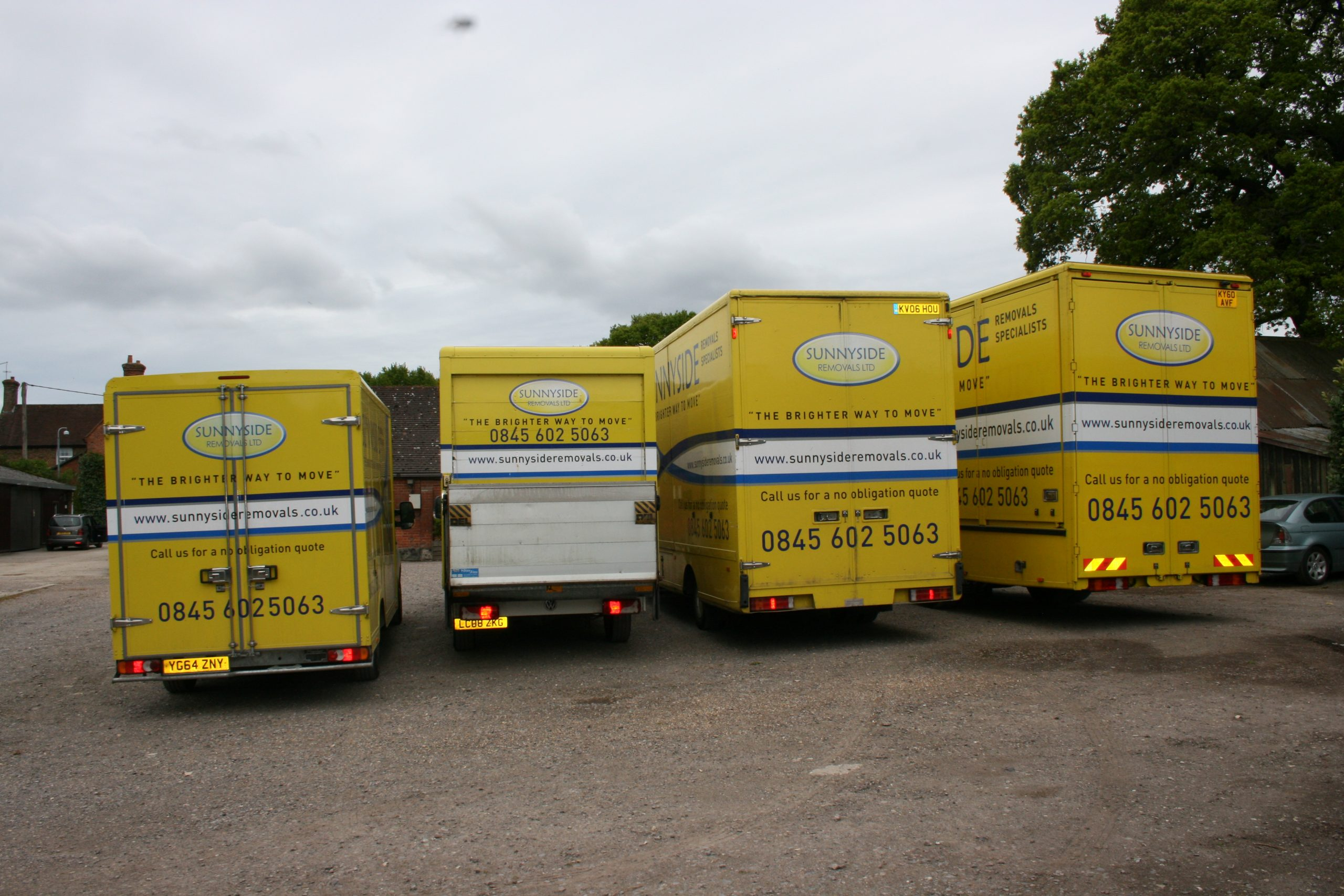 wide range of trucks for removals work