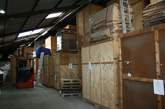 our container storage area